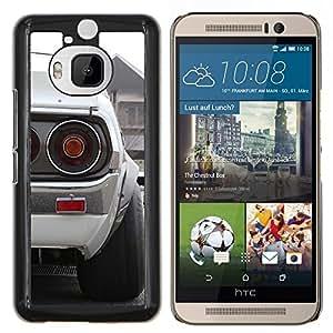 LECELL--Funda protectora / Cubierta / Piel For HTC One M9Plus M9+ M9 Plus -- Blanca Datsun --