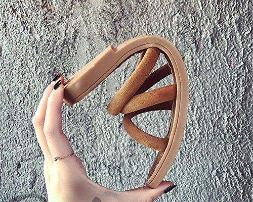 Toe 35 Plage Femmes Open xie D'été Chaussures brown Sandales Appartements 38 Pantoufles Femmes Flats Mode xwRA8qT