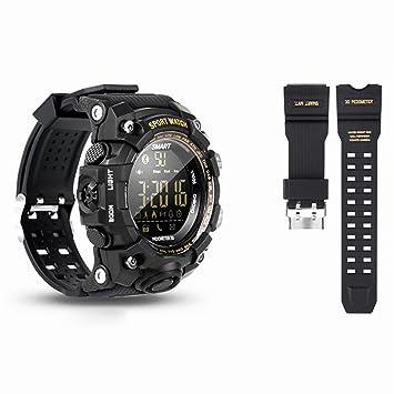 Woopower Sports Smart Reloj Bluetooth IP68 impermeable con cámara remota rastreador de fitness Wearable tecnología reloj