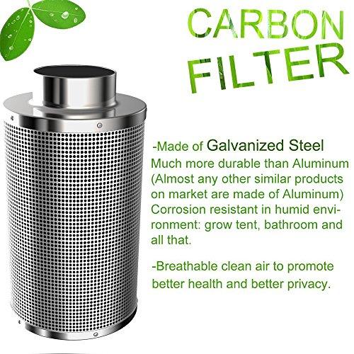 Amagabeli 4 Inch Carbon Filter Odor Control For