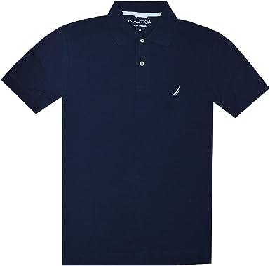 Nautica Men Slim Fit Logo Polo Pique T-Shirt (XL, Navy): Amazon.es ...