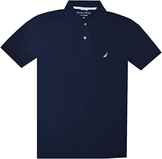 Nautica Men Slim Fit Logo Polo Pique T-Shirt (XL, Navy): Amazon.es ...