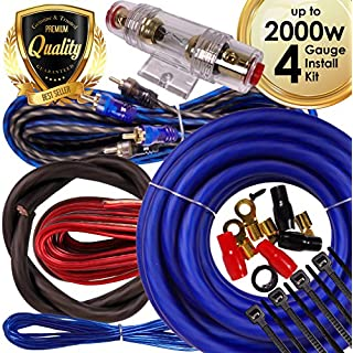 Sale Off Complete 4 Channels 2000W Gravity 4 Gauge Amplifier Installation Wiring Kit Amp PK2 4 Ga Blue - For Installer and DIY Hobbyist - Perfect for Car / Truck / Motorcycle / RV / ATV