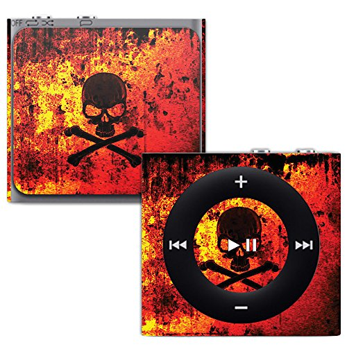 MightySkins Skin for Apple iPod Shuffle 4G - Bio Skull | Protective, Durable, and Unique Vinyl Decal wrap Cover | Easy to Apply, Remove, and Change Styles | Made in The USA (Shuffle Case Silicone Protective)