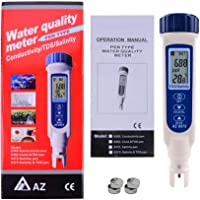 All-in-1 Pen-typed Salinity, TDS & Temp Checker Tester ATC NaCl, 100 PPT / 9999 ppm / 10% / 0.95-1.08 SG AZ8373