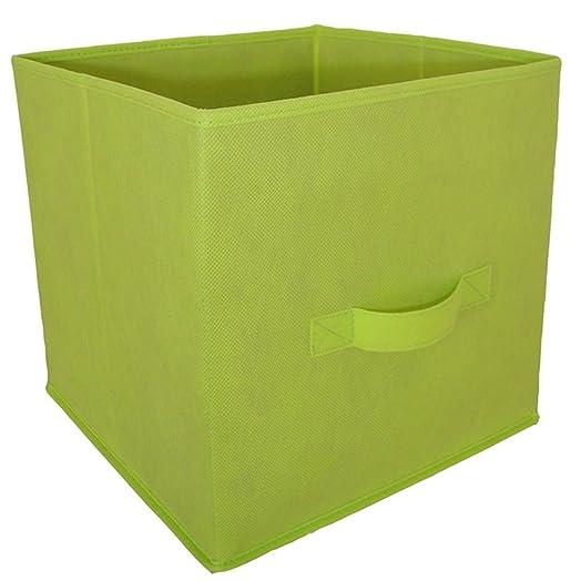 Protenrop Colors   Open Storage Bins Non Woven Green 29x29x29.5 Cm
