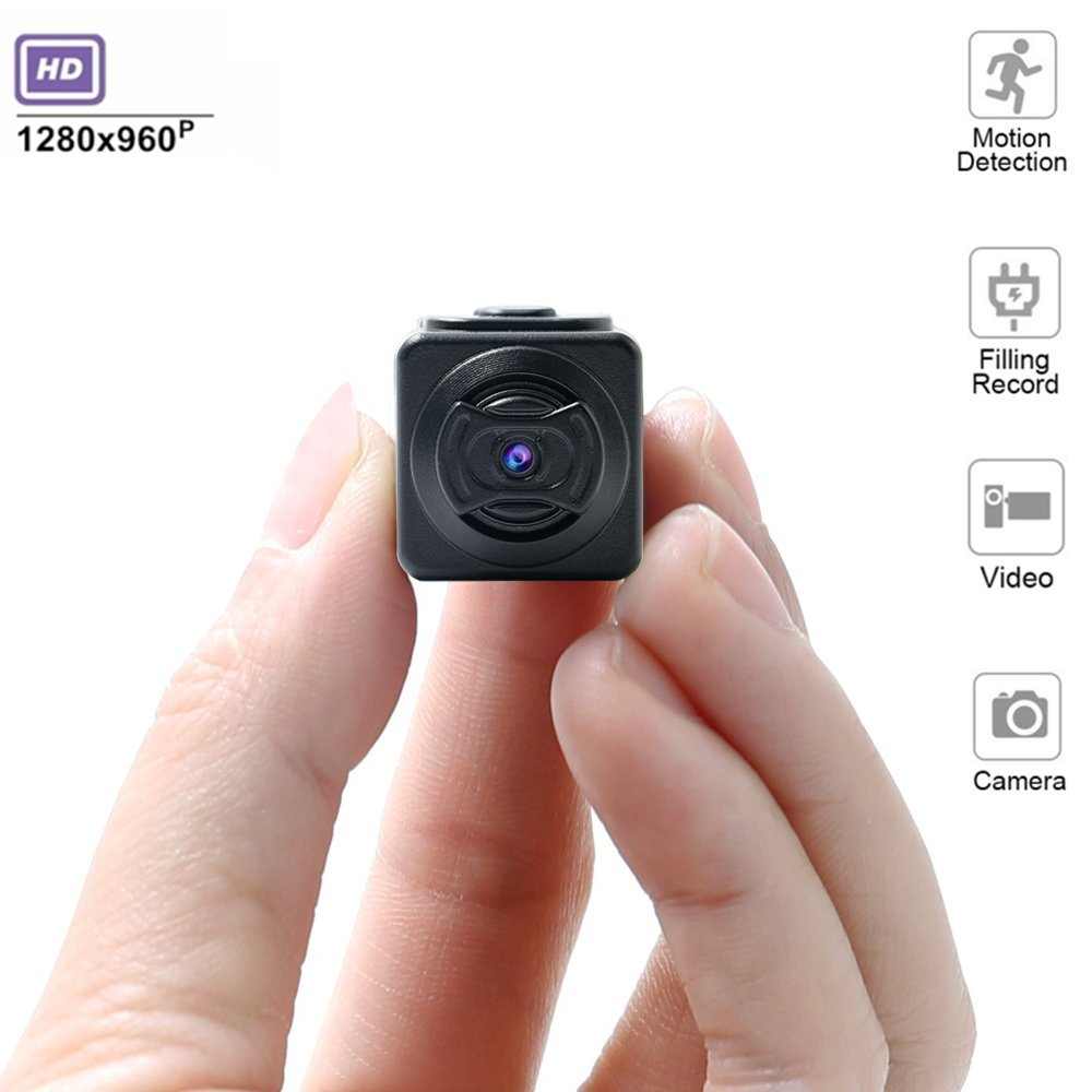 Kkeep 960P Mini Camera Portable HD Nanny Camera with Night Vision and Motion Detection Supports Live Broadcast of Cable Video Supports up to 32G Memory Cards Perfect for Family Automotive Office Secu