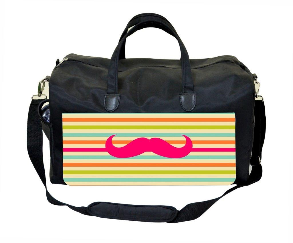 Amazon.com: Mustache Striped Weekender Bag: Jacks Outlet