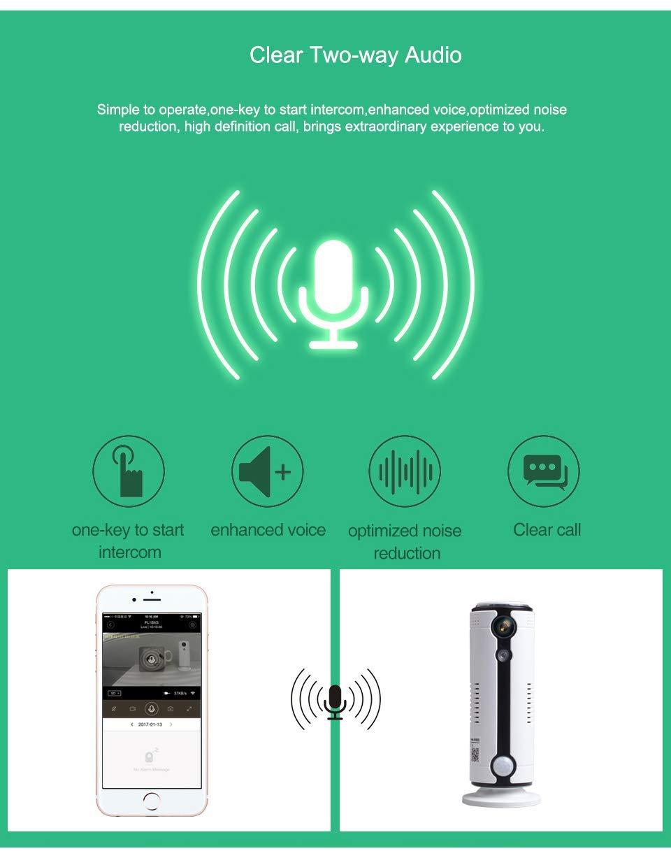 para Mascotas Monitor de beb/és con vigilancia de Audio bidireccional Detecci/ón de Movimiento Visi/ón Nocturna Toptellite 3G C/ámara de Vigilancia FULL HD C/ámara IP WiFi inal/ámbrica