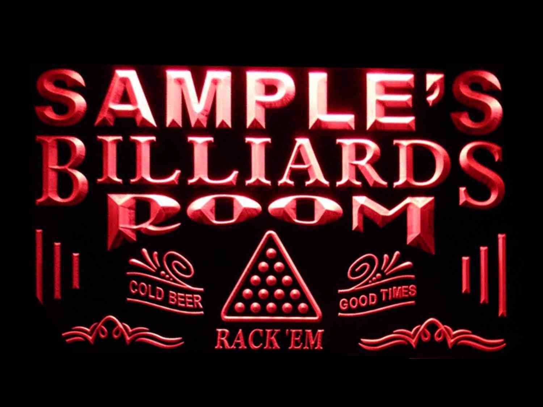 ADVPRO Open Billiard Pool Room Bar Beer LED Neon Sign White 24 x 16 st4s64-j797-w