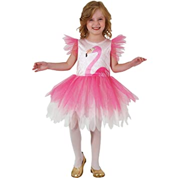 Mortino Kinder Kostum Flamingo Rosalie Kleid Tier Fasching Karneval