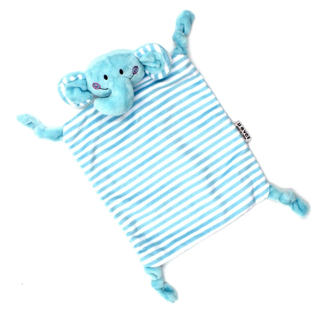 Baby Kid Soft Plush Teething Cloths Cute Cartoon Animal Teething Security Blanket Toy for Boys and Girls