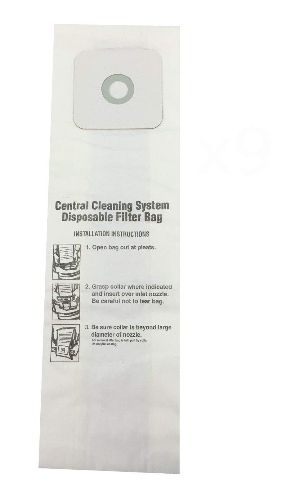 Compatible Central Vac Bags for Nutone 6 Gallon CV350 CV352 CV353 CV450 CV653 (9 Pack)