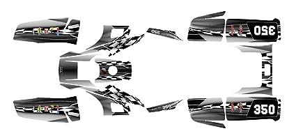 Yamaha Warrior 350 Graphics Decal Kit By Allmotorgraphics No2500 (Metal)