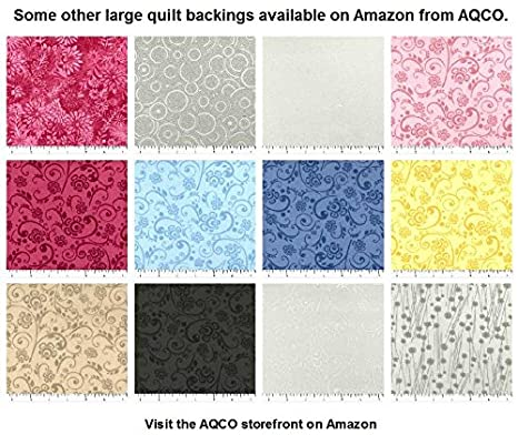 C48498-A03 White//White Large Seamless Quilt Backing