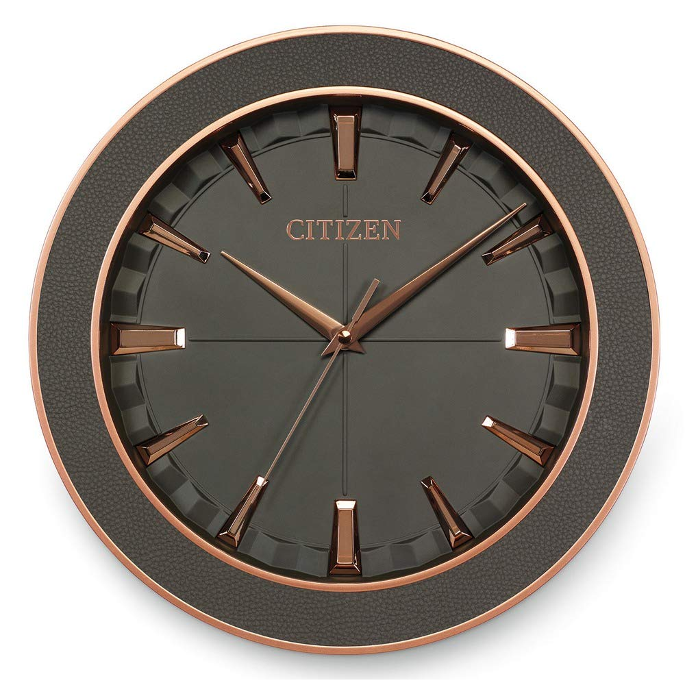 Citizen Fashion Wall Clock Metal and Leather CC2011