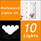 Hollywood Style LED Vanity Mirror Lights Kit for Makeup Dressing Table Vanity Set Mirrors with Dimmer and Power Supply Plug in Lighting Fixture Strip, 13.5ft, Mirror Not Included