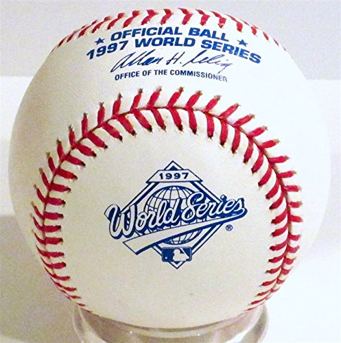 Baseball Display Indians Cleveland (Rawlings 1997 Official World Series Game Baseball)