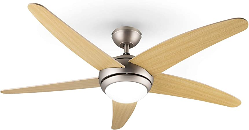 Klarstein Bolero Ventilador de techo con lámpara: Amazon.es ...