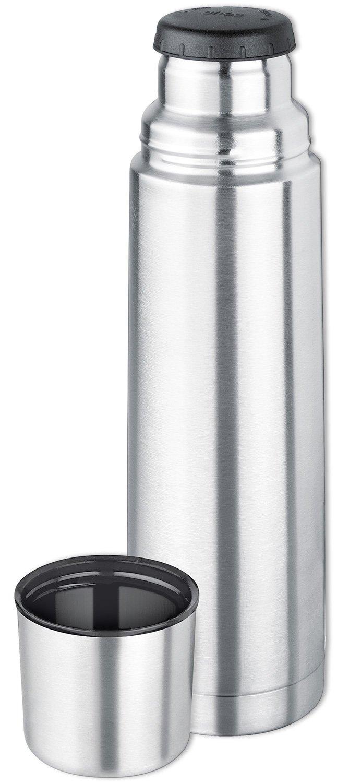 Isosteel VA-9556 Thermos in acciaio INOX 18/8 con tappo a vite e bicchiere, 0,75 L