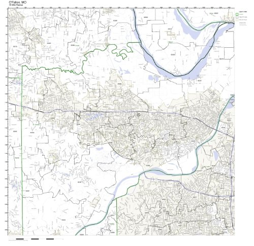 O'Fallon, MO ZIP Code Map Laminated -
