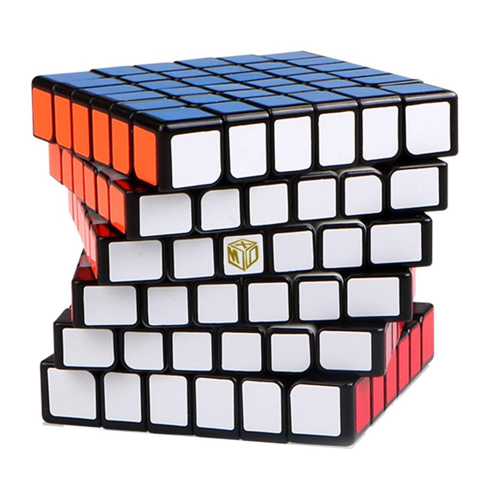 JIAAE 6X6 Professional Competition Rubik's Cube Magnetic Positioning DIY Rubik Children Puzzle Toy,Black,Magnetic