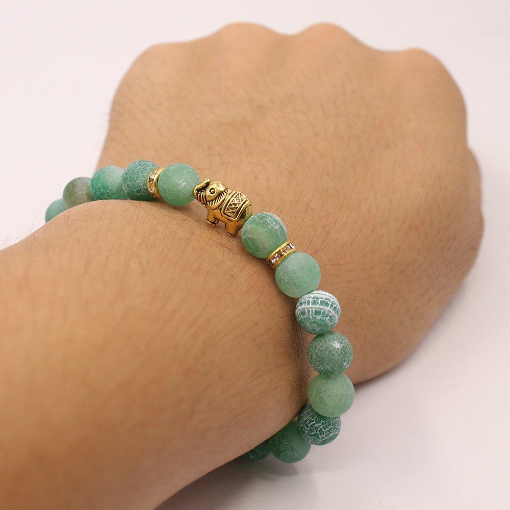 KSQS Lover Couple Bracelet Yoga Balancing Reiki Healing with Elephant for Christmas Thanksgiving Ltd KCBX1003#A
