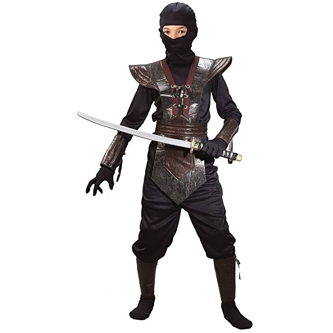 Leather Ninja Fighter Costume (Boys Childrens Costume)