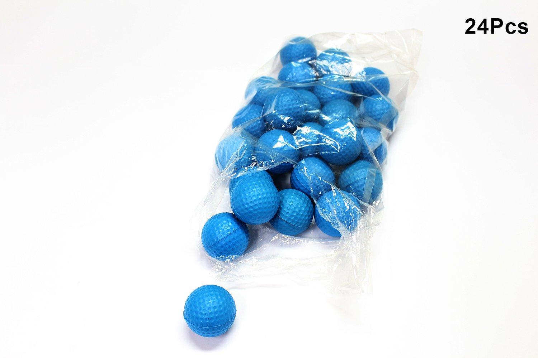 POSMA PB010AUS Golf PU Practice Balls soft balls golf training 24 Count, Blue