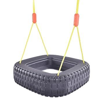 Costzon Tire Swing 2 Kids Outdoor Garden Backyard Play Swing Set