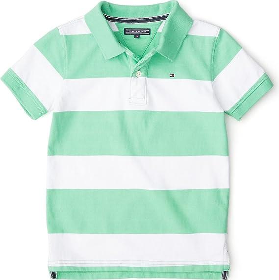Tommy Hilfiger - Polo - para niño Verde Verde Claro 9 años: Amazon ...