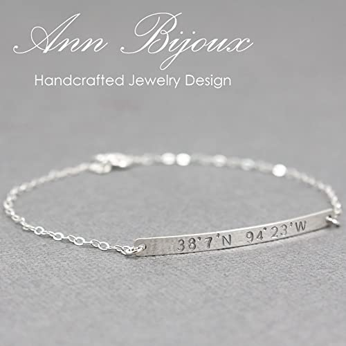 gift valentine store rope him bracelet product longitude personalized coordinates for latitude