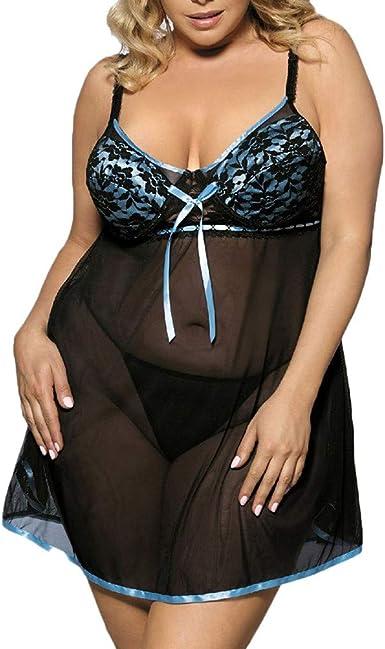 Hulky Lenceria Mujer Sexy Tallas Grandes Lenceria Erotica Mujer Moda Mujer Casual Encaje Sexy Ropa De Dormir Vestidos De Encaje Lenceria Sexy Mujer Picardias Amazon Es Ropa Y Accesorios