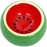 Hamster Bowl Ceramic Prevent Tipping Moving and Chewing Wonderful Food Dish for Small Rodents Gerbil Hamsters Mice Guinea Pig Cavy Hedgehog and other Small Animals