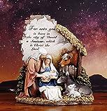 Unto You a Savior is Born 10 inch Christmas Nativity Scene Sculpture Figurine