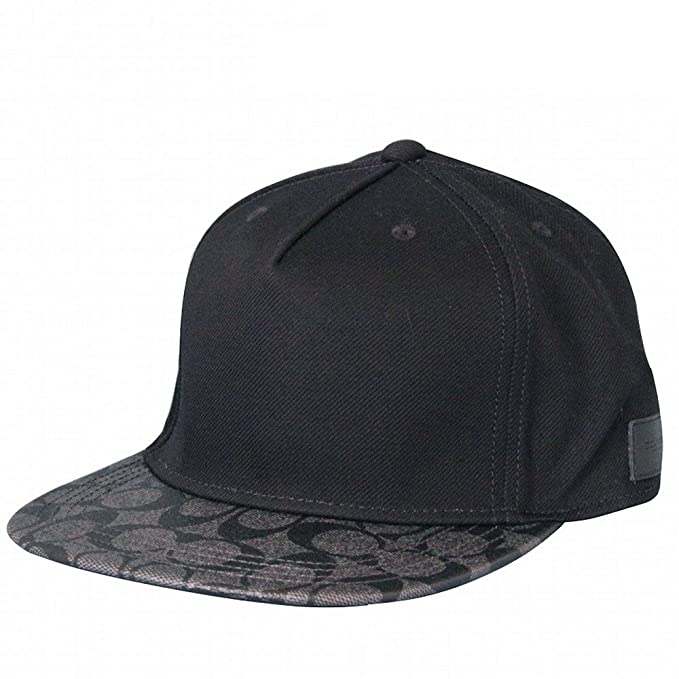 COACH Mens Flat Brim Hat In Signature 86476 CQBK  Amazon.ca  Clothing    Accessories 96977cc50df