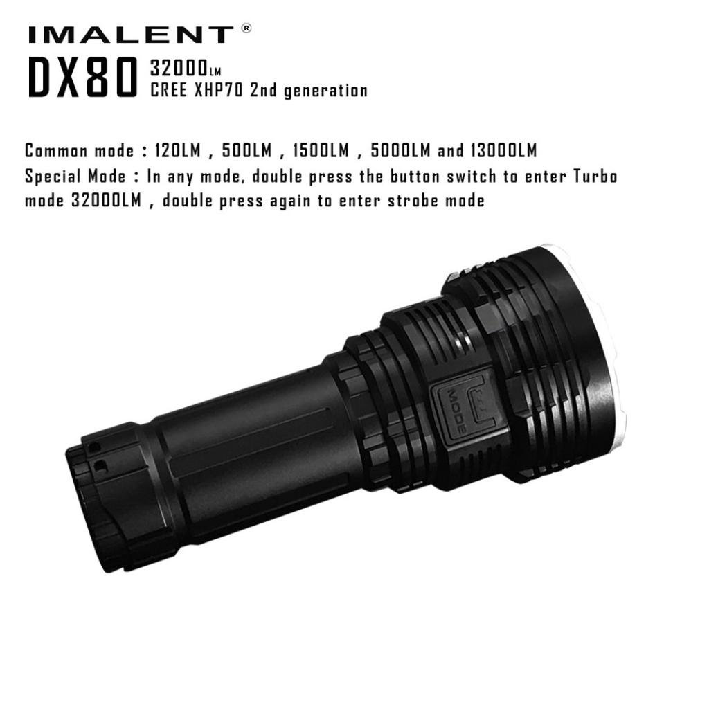 Fullfun IMALENT DX80 XHP70 32000lumens Rechargeable Powerful Flood/Outdoor LED Seach Flashlight by Fullfun (Image #3)