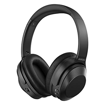 Mpow H12 Cascos Bluetooth Inalámbricos, 30 Hrs de Reproducción, Bajo Potente, Cascos Diadema Bluetooth con Reducción Activa de Ruido, Cascos Cerrados ...