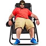 Zero Gravity Chair Oversized,420 lbs Weight Capacity Patio Lounge Chair, Folding Beach Chair Recliner 31.5 inch Extra…