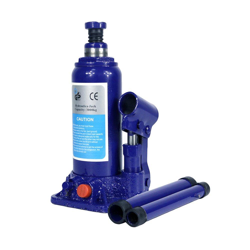 3 Ton Hydraulic Bottle Jack With Safety Valve Blue Car Jack - 3 Ton Capacity / ZBN