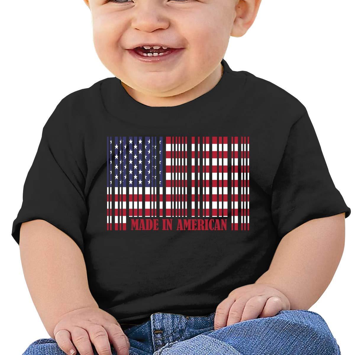 STARKLY American Barcode Flag Boy Girl Newborn Short Sleeve Tee Shirt 6-24 Month 5 Tops