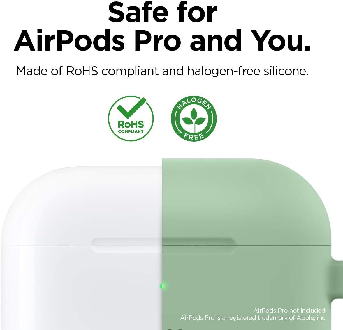 2019 Silicone de Qualit/é elago /Étui Original AirPods Pro Coque Silicone Case Housse Compatible avec AirPods Pro - Totale Protection Couverture sans Mousqueton, Rouge Test dajustement