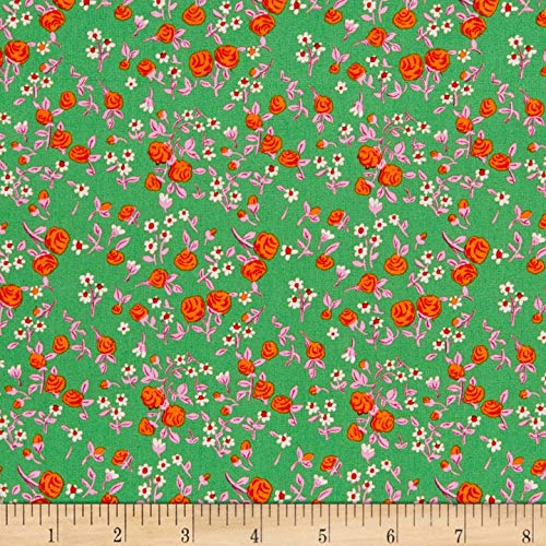 Windham Fabrics Heather Ross Mousies Floral Kelly Fabric by The Yard