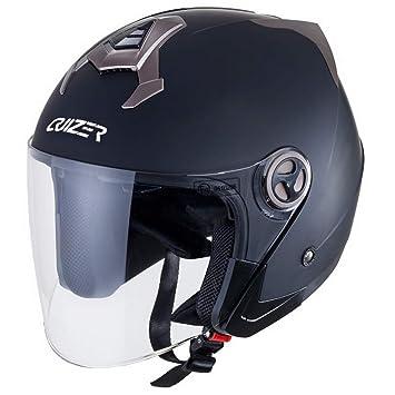 CRUIZER Casco Moto Jet homologado ECE, Negro Mate, talla XS