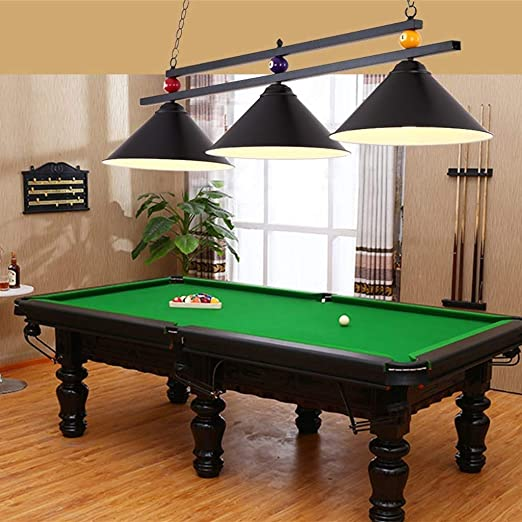Araña industrial con luces 3 * E27 Adecuada para mesas de billar o ...