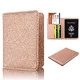 #6: Anvas Passport Holder Travel Wallet - Premium Vegan Leather RFID Blocking Bling Case Cover - Securely Holds Passport, Business Cards, Credit Cards, Boarding Passes,Latte