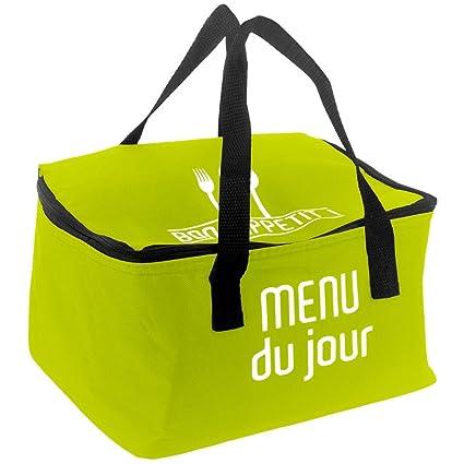 Promobo Lunch Bag Sac Panier Repas Fraicheur Isotherme Menu Du Jour Prune IR2nAe0A4
