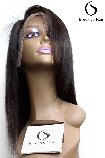 10A Full Lace Wigs Straight 12 quot  100% Full Hand Tied Virgin Remy Human  Hair 504a4f9bc