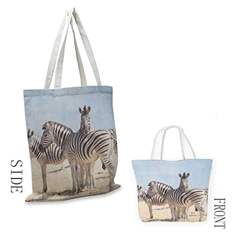 Cash And Carry Savannah >> Amazon Com Tote Bag Wildlife Three Zebras In Namibia