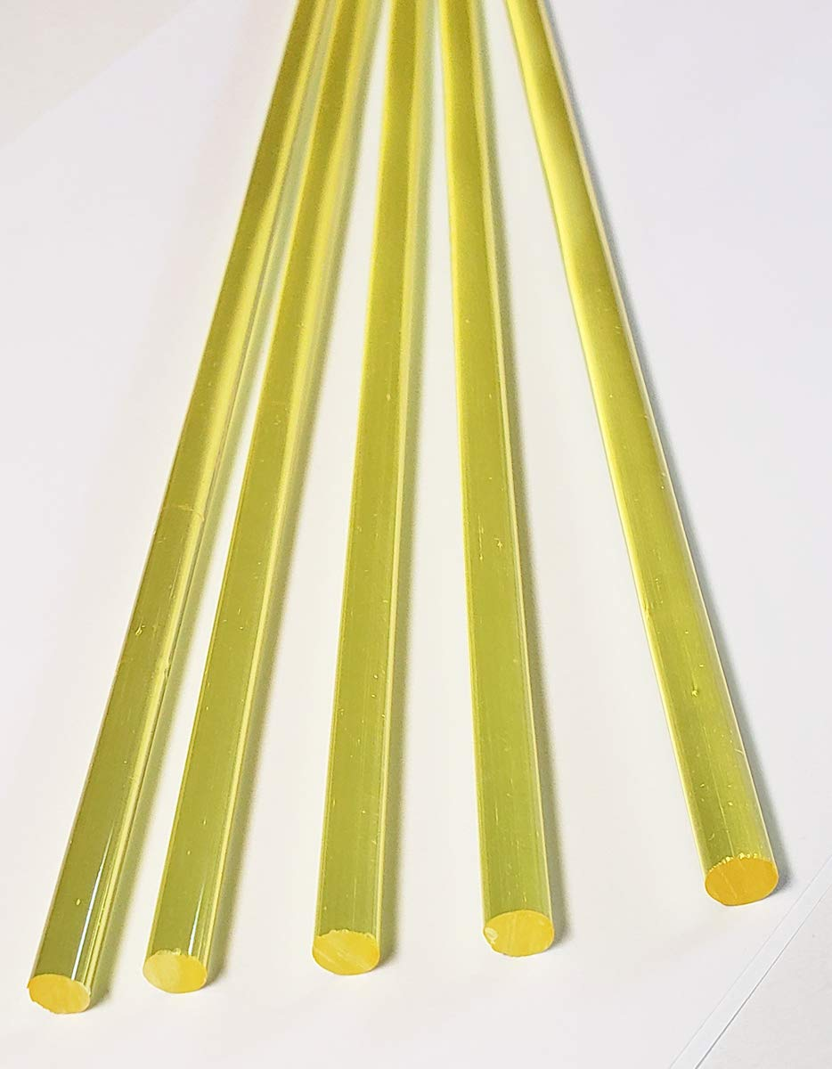 3//4 Diameter Rexolite Polystyrene Round Rod 2 Length Meets MIL-LP-516A Translucent Off-White